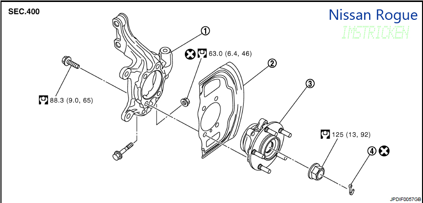 Service manual [How To Remove Axle Nut Cover 2012 Infiniti