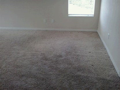 After I stretched carpet.