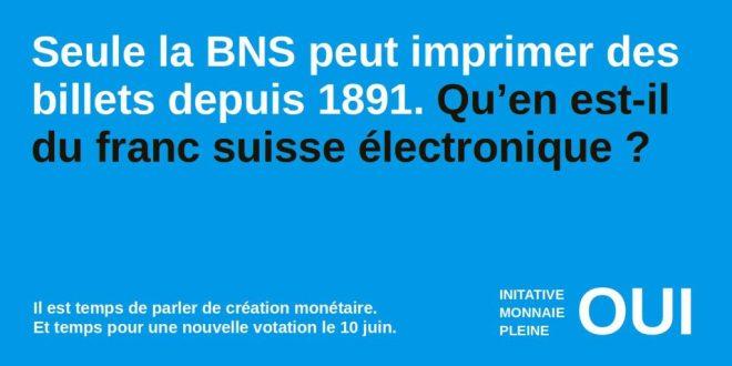 initiative monnaie pleine 1891 franc suisse electronique