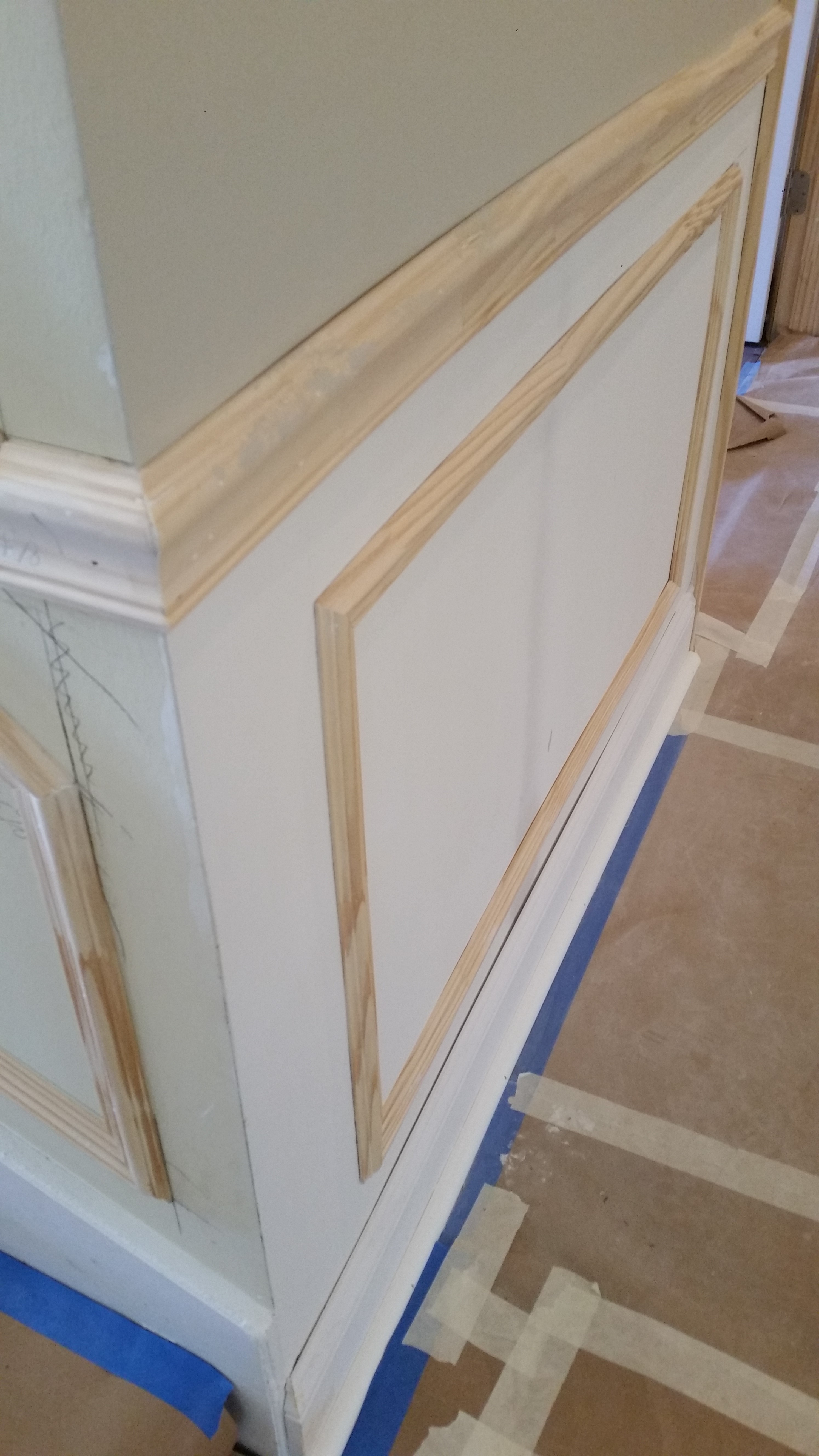 Wainscoting (faux) Picture Frames And Chair Rail