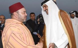 الملك وامير قطر
