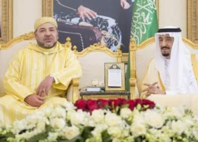 الملك محمد السادس والعاهل السعودي