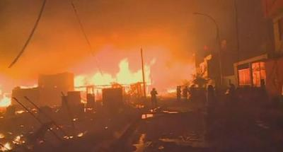 حريق يأتي على أزيد من 200 منزل بالبيرو