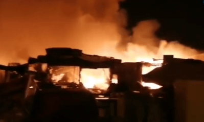حريق سوق أكادير
