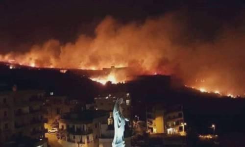 عشرات الحرائق تجتاح لبنان