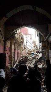 انهيار بناية سكنية بالمدينة العتيقة لطنجة و وفاة صاحبها