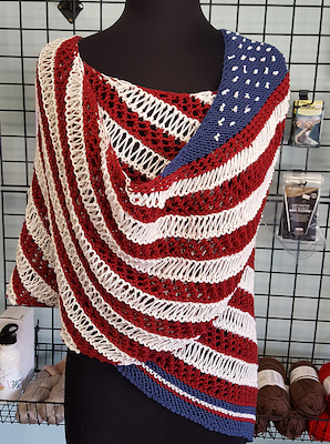 independence day knit pattern for shawl