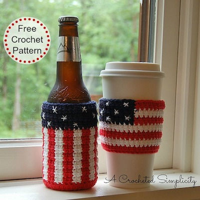 4th of july beer cozy