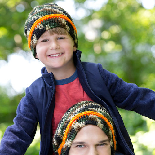 beanie set free patterns for father's day
