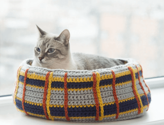 Curl Up Kitty Cat Bed