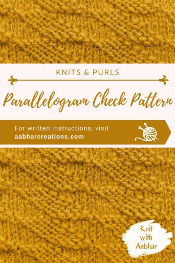Parallelogram check Pin aabharcreations