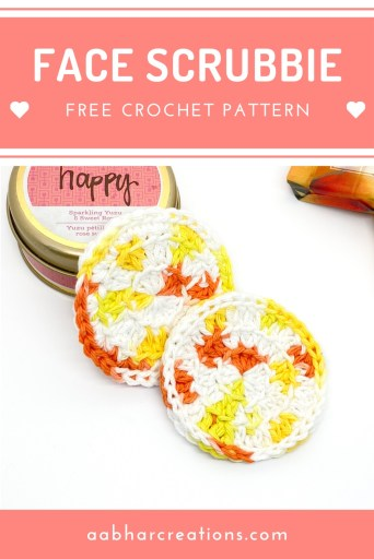 crochet face scrubbie pin aabharcreations