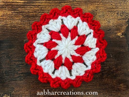 Christmas Flower Coasters