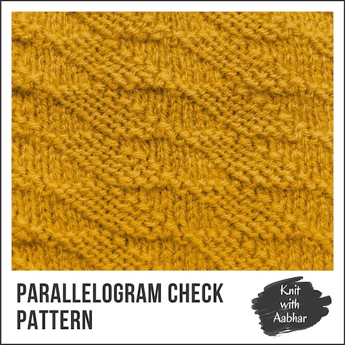 Parallelogram Check Stitch Pattern