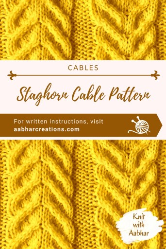 Staghorn Cable Stitch Pattern Pin