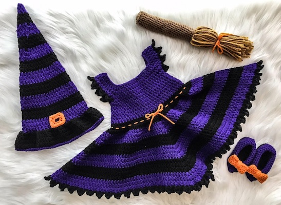 Adorable Witch Baby Halloween Costume