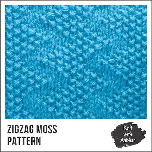 Zigzag Moss Stitch Pattern