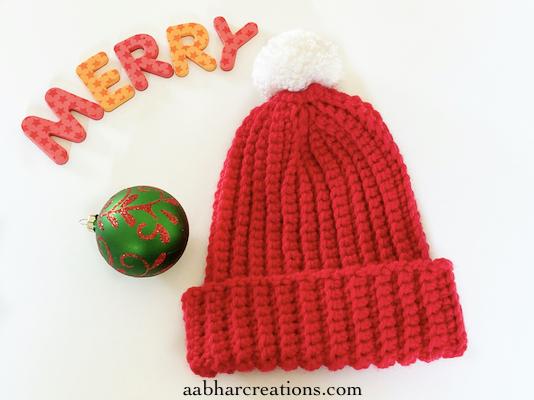 classic ribbed beanie crochet free pattern