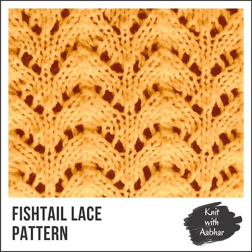 Fishtail Lace Stitch Pattern