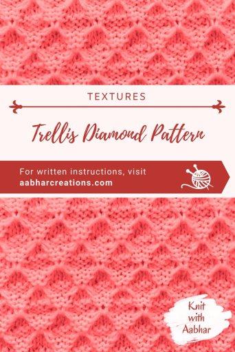Trellis Diamond Stitch