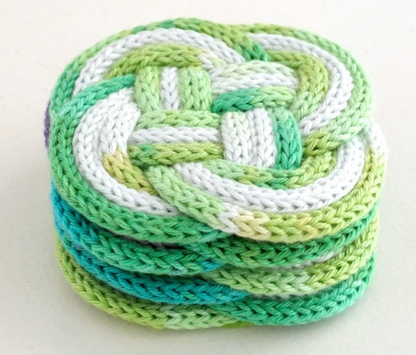 Pattern: French Knitted Knotted Coasters from My Poppet