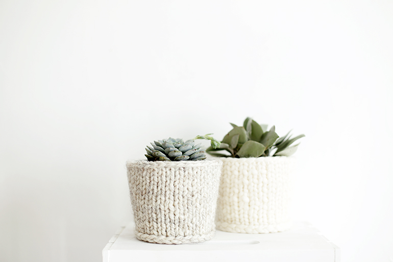 Knit Planter Cover