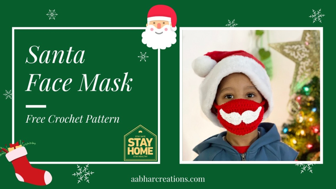 Crochet Santa Face Mask Featured