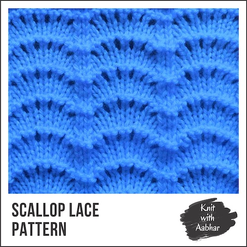 Scallop Lace Stitch Pattern portfolio
