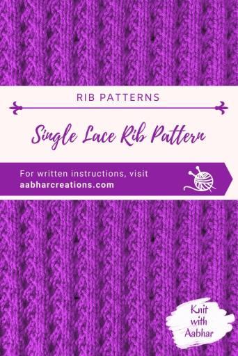 Single Lace Rib Pin