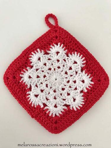Snowflake potholder free pattern