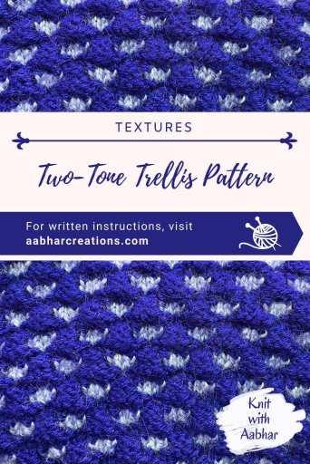Two-Tone Trellis Stitch Pin