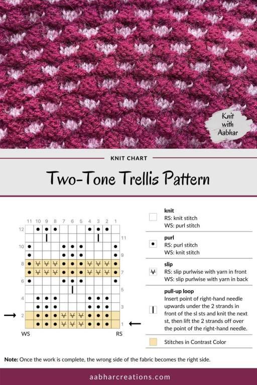 Two-Tone Trellis Stitch Chart