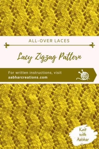 Lacy Zigzag Stitch Pin