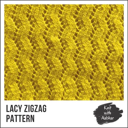 Lacy Zigzag Stitch Pattern