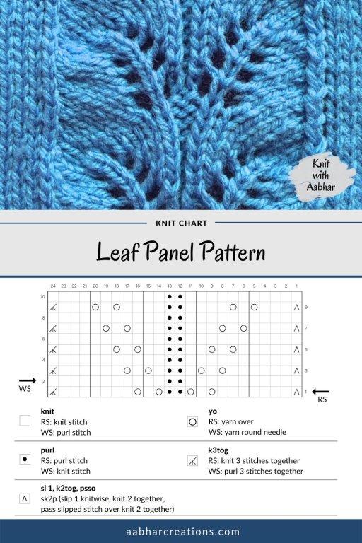 Leaf Panel Stitch Chart