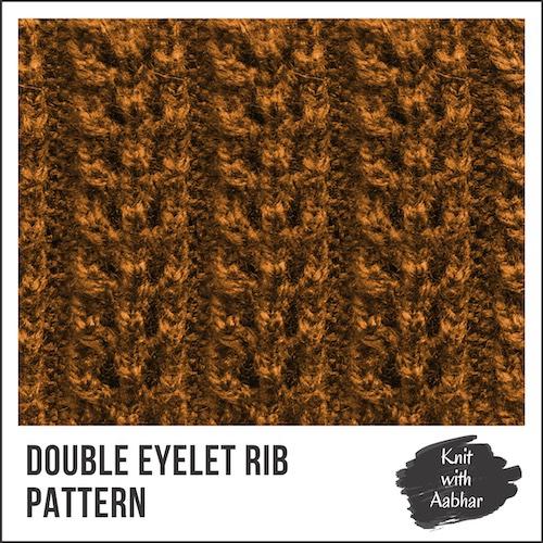 Double Eyelet Rib Stitch