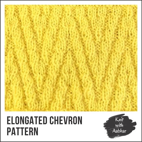 Elongated Chevron Stitch Pattern aabharcreations
