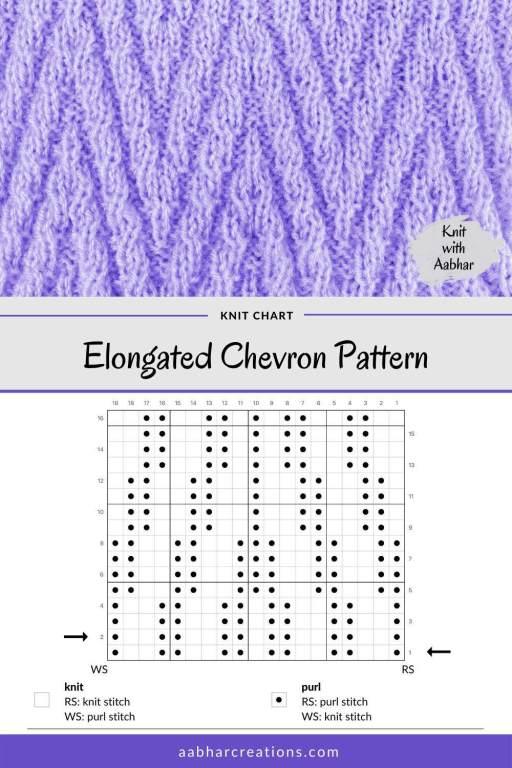 Elongated Chevron Stitch Chart