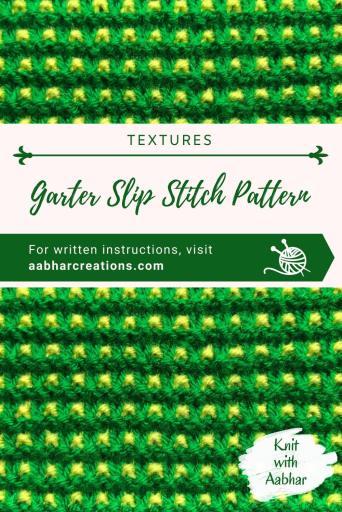 Garter Slip Stitch Pin