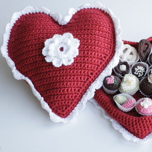 Red Heart Crochet Box of Chocolates Red Heart Crochet Box of Chocolates 2
