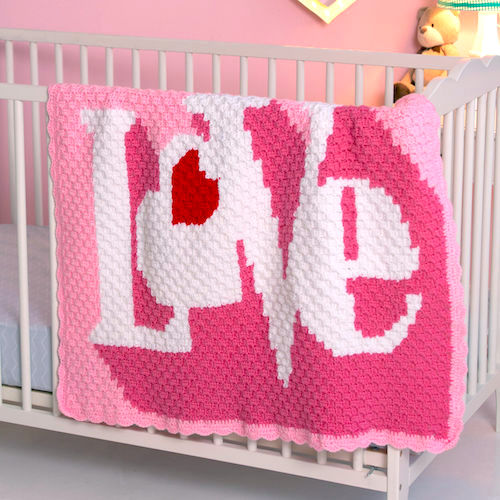 Pattern: Red Heart Heart Throb Blanket from Yarnspirations