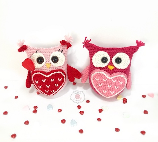 """Pattern: """"Owl Will Always Love You"""" Valentine Caddy Crochet Pattern from Holly's Hobbies"""