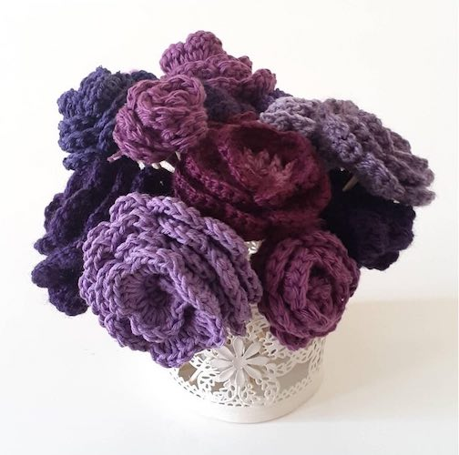 International Women's Day Crochet Flowers