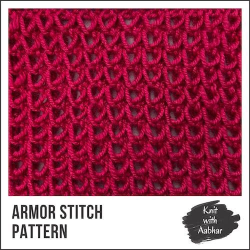 Armor Stitch Pattern aabharcreations