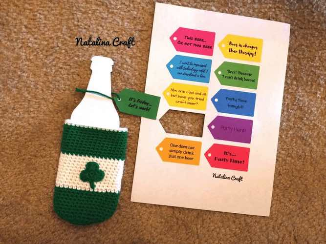 patrick's day crochet patterns Crochet Cozy for Beer Bottles