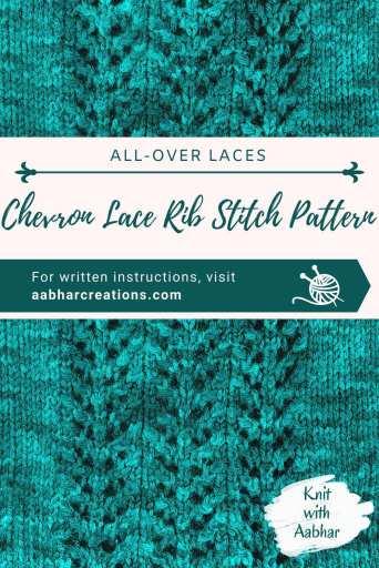 Chevron Lace Rib Pin aabharcreations