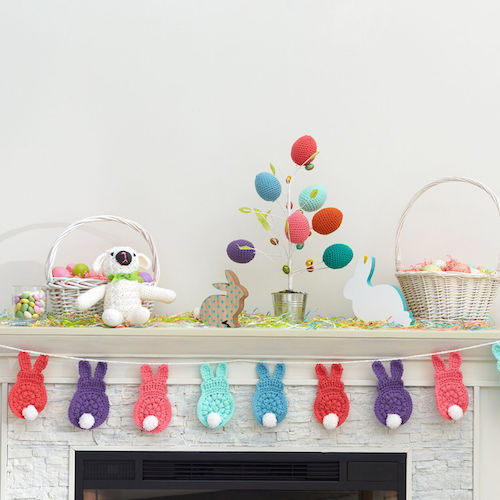 #3 Red Heart Bunny Garland