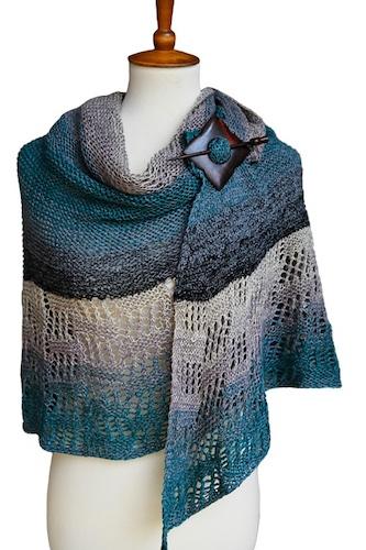 Half Circle Garter Stitch Shawl free knitting pattern