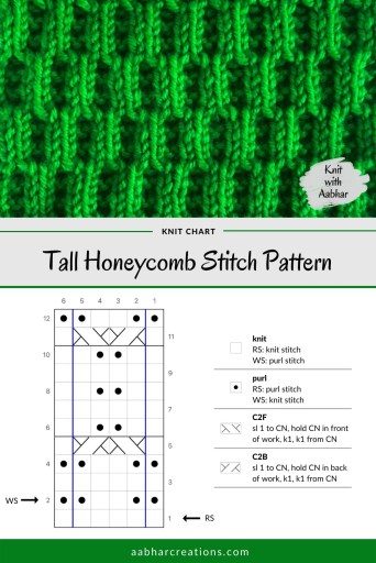 Tall Honeycomb Stitch Chart