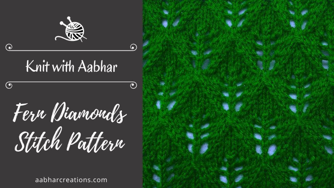 Fern Diamonds Stitch aabharcreations